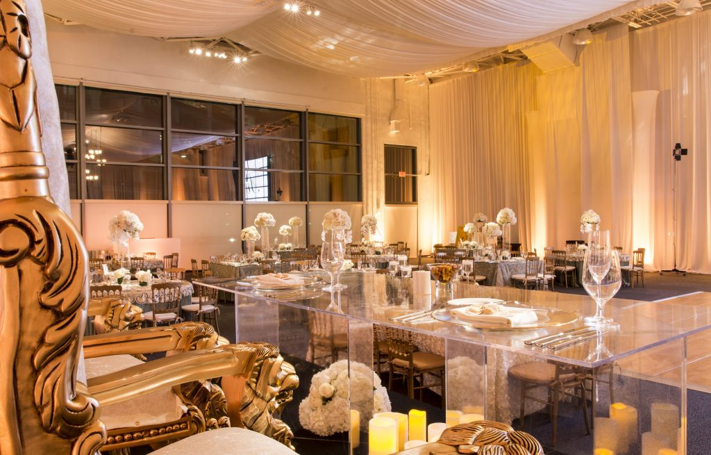 JW Marriot, and Out of Box Weddings - Transforms the Gym